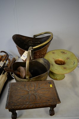 Lot 361 - Two coal scuttles; and other items.
