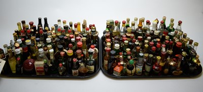 Lot 395 - Large collection of miniature bottles of alcohol.