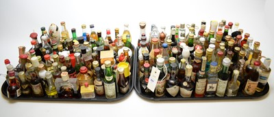 Lot 397 - Large collection of alcohol miniatures.