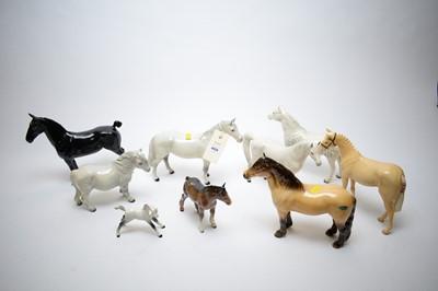 Lot 409 - Selection of Beswick horses.