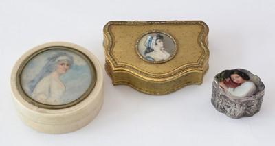 Lot 173 - Continental School, 19th Century - Portrait miniature boxes