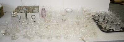 Lot 444 - Large selection of drinking glasses; and other items.
