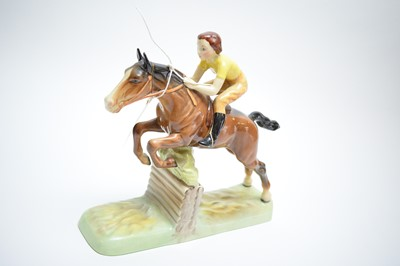 Lot 470 - Beswick model of a lady jockey.