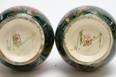 Lot 513 - Pair of Macintyre Moorcroft Florian vases