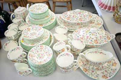Lot 584 - Minton Haddon Hall pattern tea and dinner service