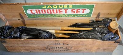 Lot 604 - Jaques Croquet Set in original box.
