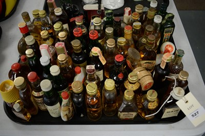 Lot 527 - A large quantity of miniature Whisky and other items