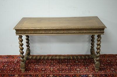 Lot 58 - A Victorian oak side table