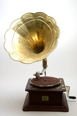 Lot 446 - HMV gramophone.
