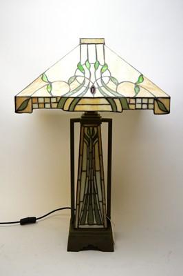 Lot 429 - Tiffany-style lamp and shade.
