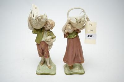 Lot 437 - A pair of Royal Dux figures
