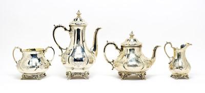 Lot 162 - A Victorian silver four-piece tea service