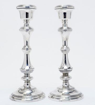 Lot 193 - A pair of Elizabeth II silver candlesticks