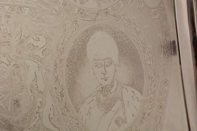 Lot 164 - An Edwardian silver royal commemorative tea tray