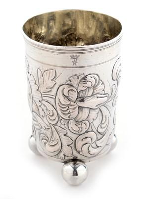 Lot 208 - A German silver beaker
