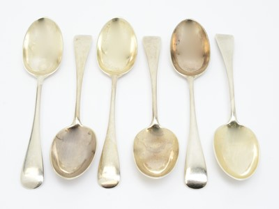 Lot 169 - A set of six Victorian silver dessert spoons