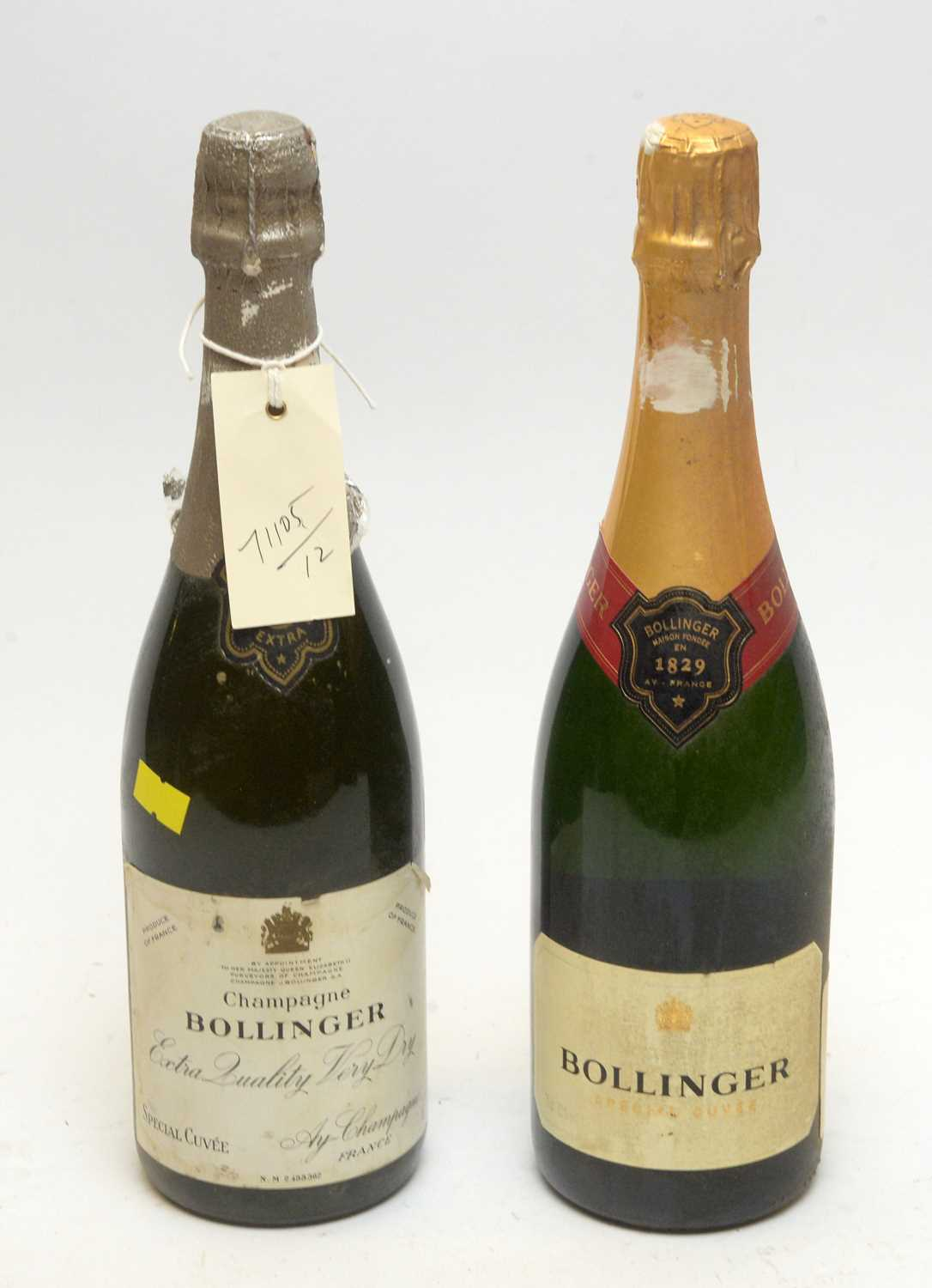 Lot 2 - Bollinger Special Cuvee; and Bollinger Extra Quality Very Dry.