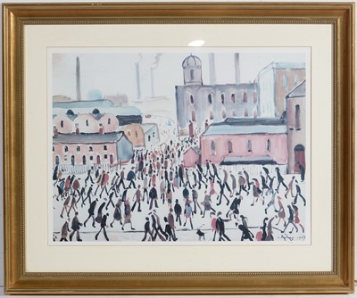 Lot 912 - After Lawrence Stephen Lowry - giclee print