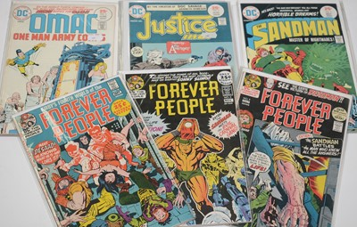 Lot 1154 - The Forever People, and other comics.
