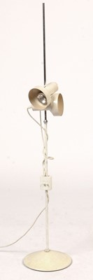 Lot 787 - A mid-20th Century white plastic and metal floor lamp