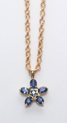 Lot 187 - Kanchanaburi sapphire pendant.