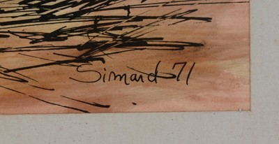 Lot 662 - Simand - pen, ink and wash.