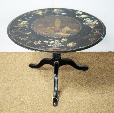 Lot 9 - 19th C cast iron table.