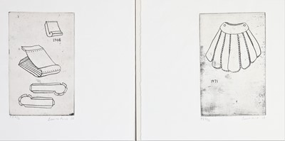 Lot 913 - Bonita Alice - three soft-ground etchings