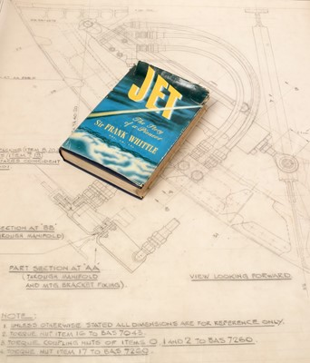 Lot 1292 - A technical drawing of flexible pipes to the nose of the Concorde