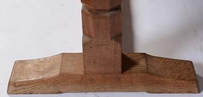 Lot 653 - Mid 20th Century Robert 'Mouseman' Thompson oak dining table