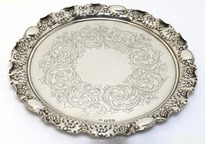 Lot 161 - A Victorian silver waiter