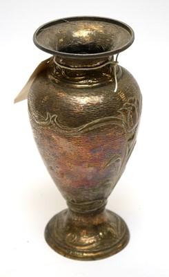 Lot 283 - An Edwardian silver vase