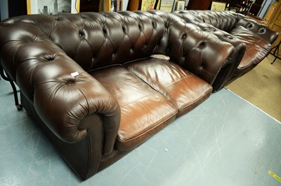 Lot 154 - Two 20th Century chesterfield sofas