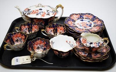 Lot 384 - Wileman/Foley china part tea set.