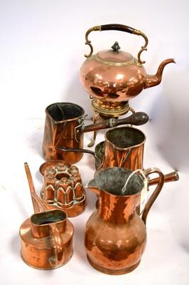 Lot 453 - Victorian copper and brassware.