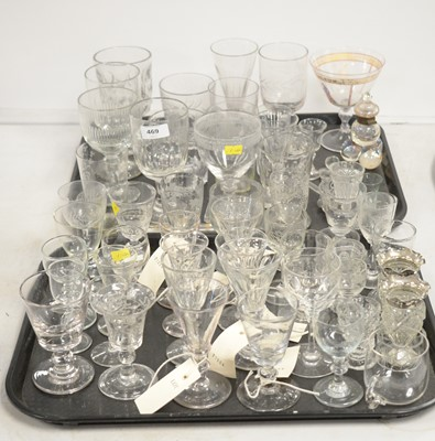 Lot 469 - Assorted Georgian and later glasses.