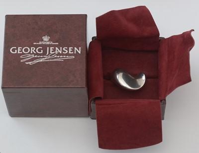 Lot 734 - Hans Hansen for Georg Jensen: sterling silver ring