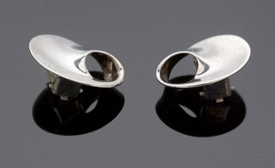 Lot 746 - Vivianna Torun Bülow-Hübe for Georg Jensen: sterling silver earrings