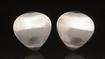 Lot 747 - Nanna Ditzel for Georg Jensen: sterling silver earrings