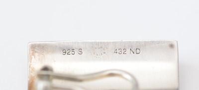 Lot 748 - Nanna Ditzel for Georg Jensen: pair of sterling silver surf pattern earrings