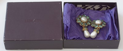Lot 754 - Chanel: a pair of faux pearl and paste earrings