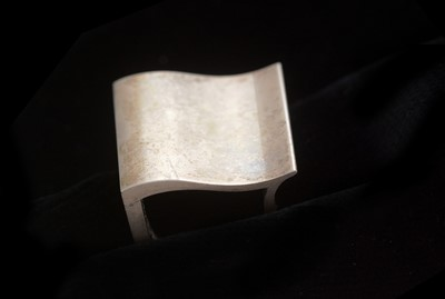 Lot 735 - Nanna Ditzel for Georg Jensen: sterling silver surf ring