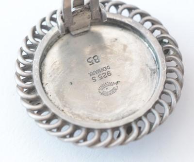 Lot 750 - Georg Jensen: a pair of sterling silver earrings