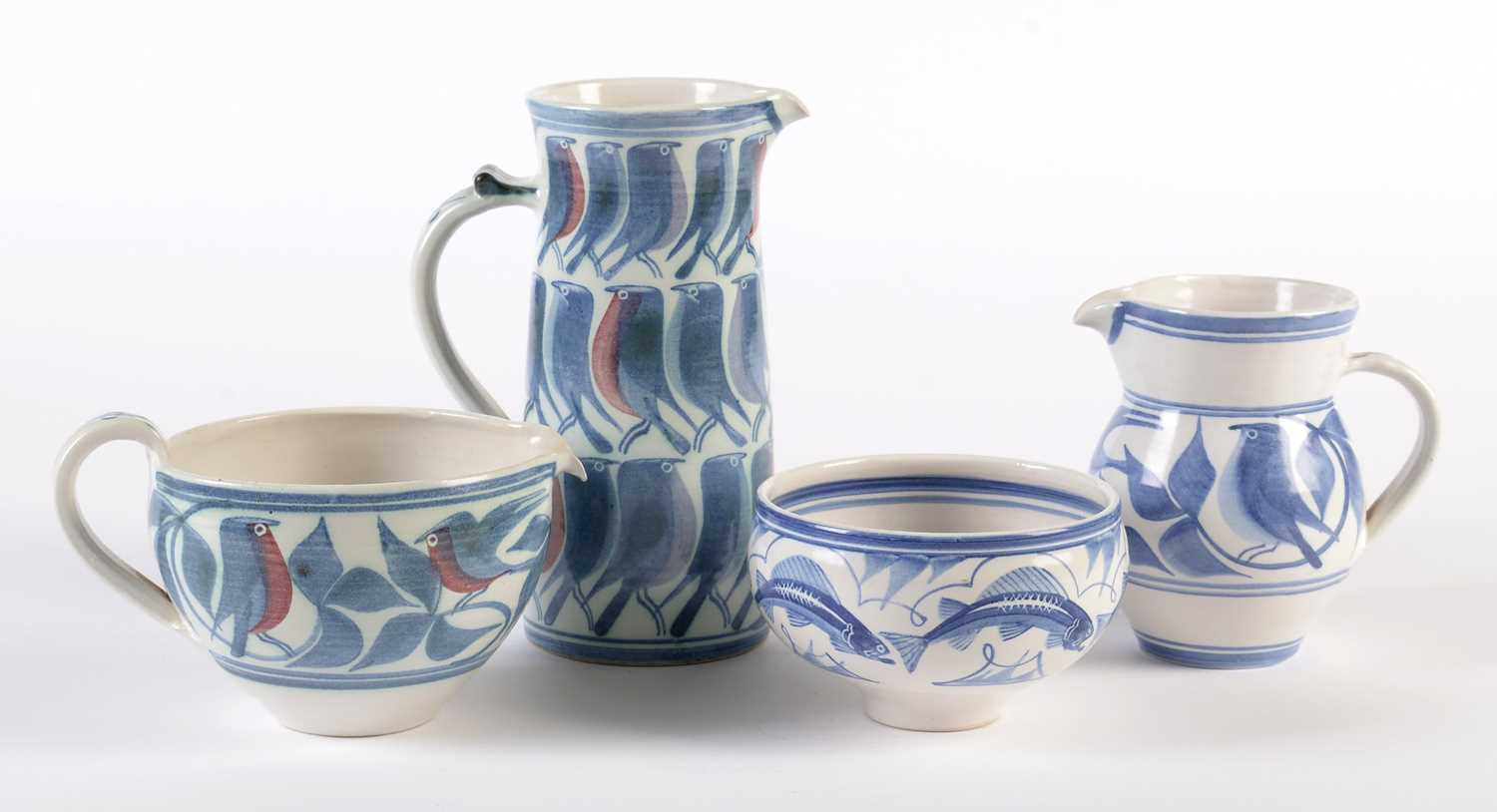Lot 714 - Laurence McGowan four pieces of studio pottery