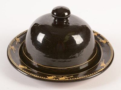 Lot 719 - Hannah McAndrew slipware cheese dome and stand