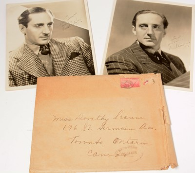 Lot 1271 - Two signed Basil Rathbone photographs