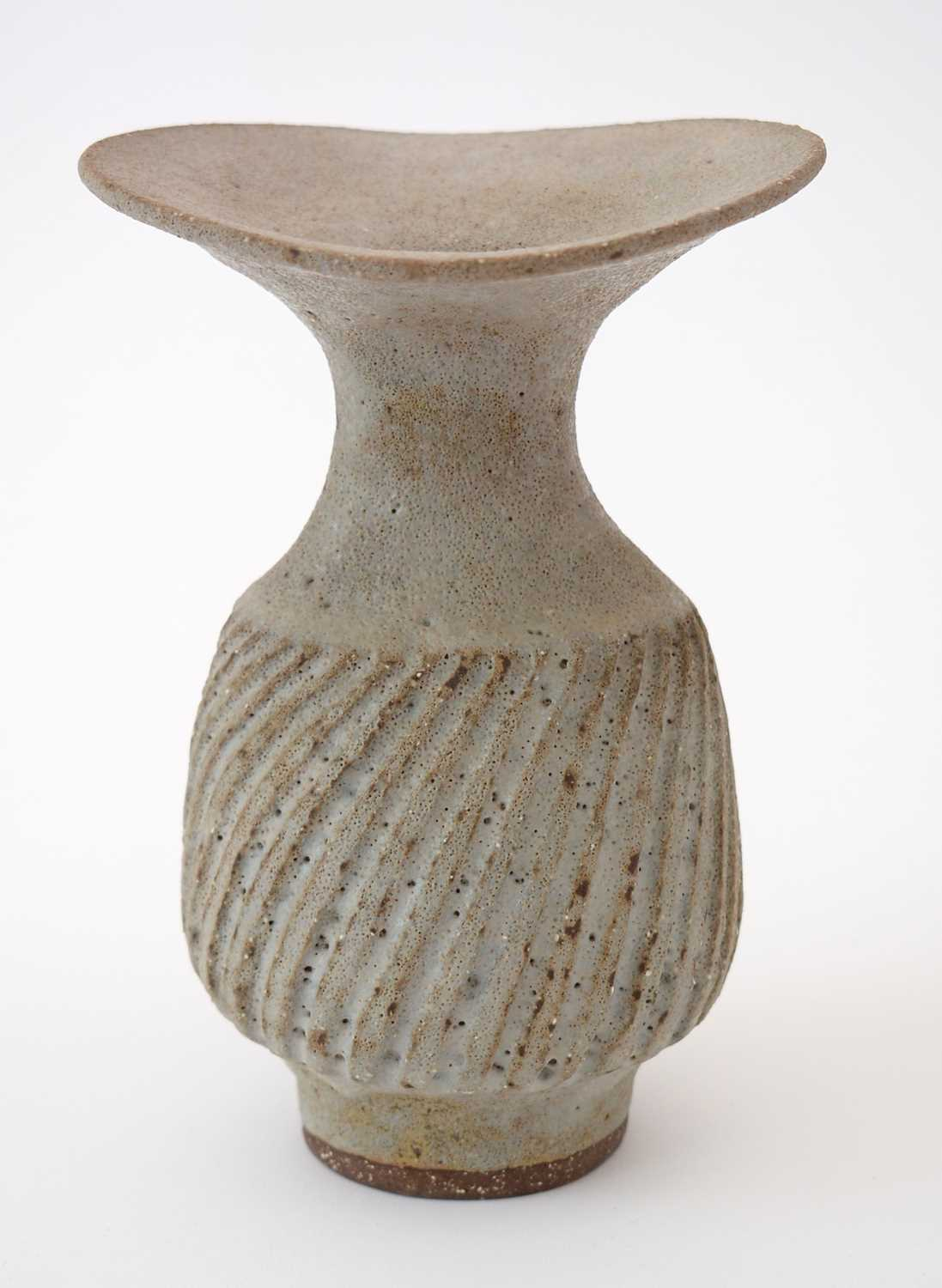 Lot 710 - Lucie Rie: olive Stoneware vase