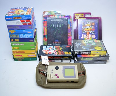 Lot 272 - A Nintendo Game Boy along with a collection of Game Boy games and others.