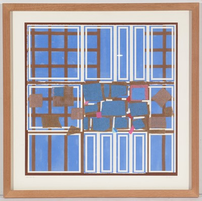 Lot 909 - Sandra Blow - silkscreen with collage elements