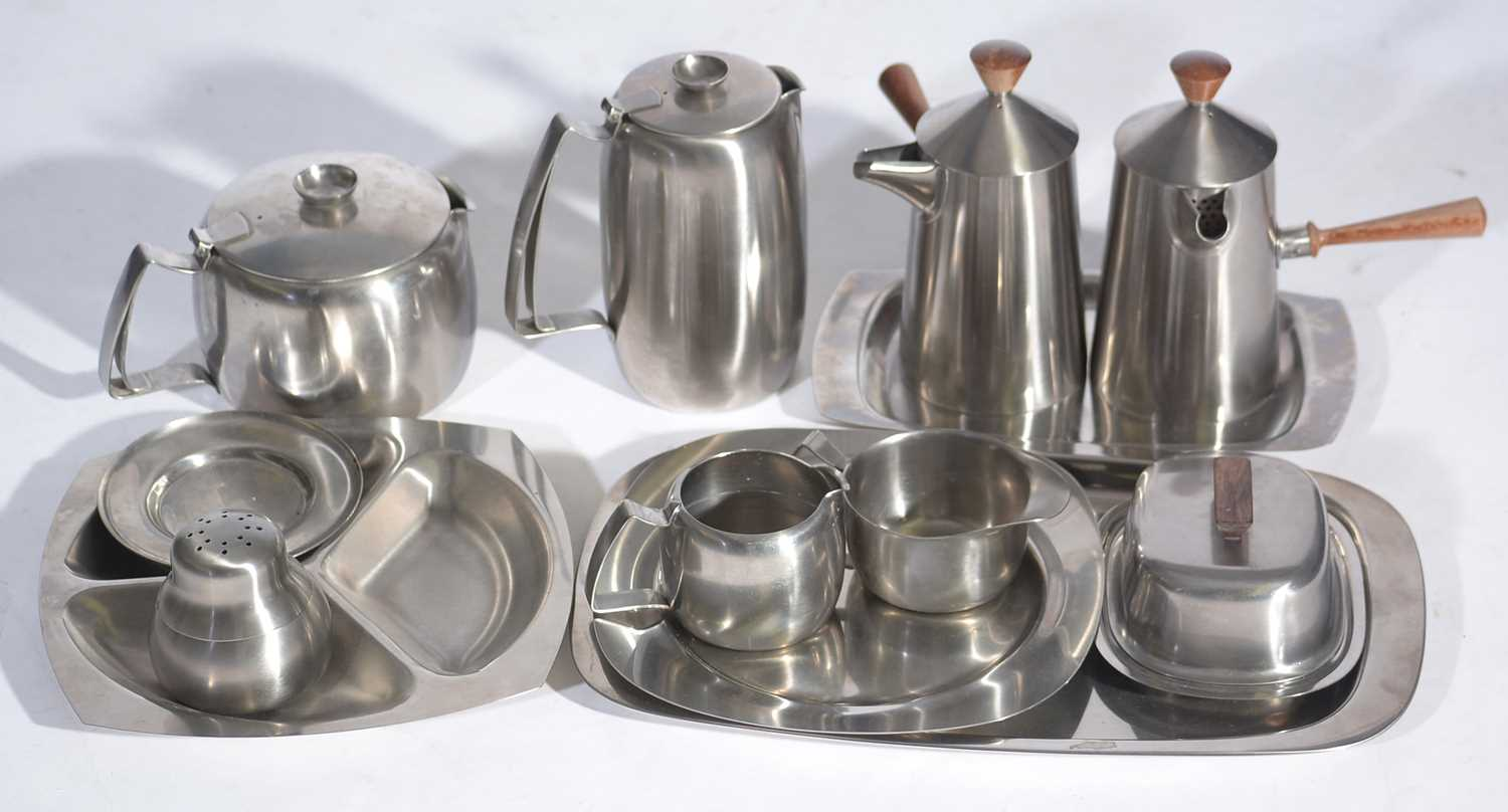 Lot 769 - Robert Welch for Old Hall: Campden cafe au lait coffee pot and milk jug; and other items.